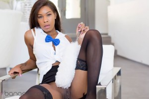 VR Porn World – The Busty Black Maid – Nadia Jay  – Spreading her legs – Tickling her pussy